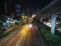 Chaotic city. Here in Bangkok, Thailand. Highways and traffic. Too much civilisation Stock Images