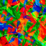 Chaotic Colorful Art Royalty Free Stock Photography