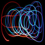 Chaotic colorful lights Royalty Free Stock Photos