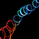 Chaotic colorful lights Stock Photo