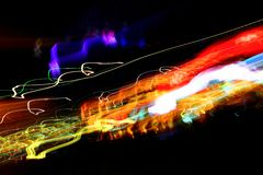 Chaotic colorful lights Stock Photos