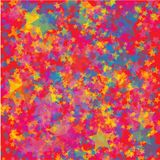 Chaotic colorful stars background vector illustration
