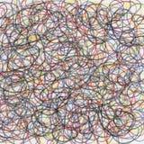 Chaotic crayon scribble stock photos