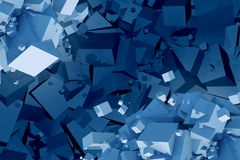Chaotic Cubes Abstract Stock Images