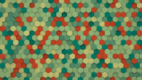 Chaotic extruded hexagons wall 3D render. Chaotic extruded hexagons wall. 3D render abstract geometric background Royalty Free Stock Photography