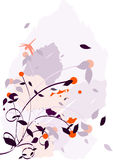 Chaotic Flower Illustration Stock Images