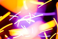 Chaotic flying particles of light abstract stock images