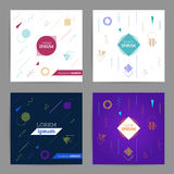 Chaotic geometric backgrounds set Stock Image