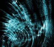 Chaotic Green Abstract Royalty Free Stock Photography