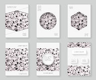 Chaotic grid abstract 3d over design template design decorative pattern frame ornament book brochure booklet background Royalty Free Stock Photo