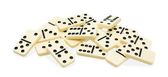 Chaotic heap of dominoes Royalty Free Stock Photo