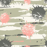 Chaotic lines and spots seamless pattern. Stock Photography
