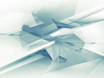 Chaotic low polygonal structure, 3d illustration. Abstract digital background with light blue chaotic low polygonal structure, 3d illustration Stock Photos