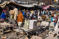 Chaotic market in Afghanistan Royalty Free Stock Photography