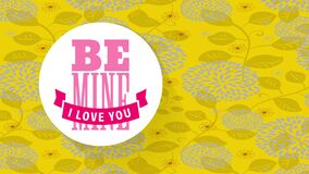 Be mine i love you text design for valentines