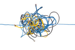 Chaotic network Stock Photos