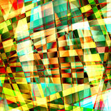 Chaotic pattern with colorful translucent curved lines Royalty Free Stock Image