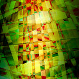 Chaotic pattern with colorful translucent curved lines Stock Images