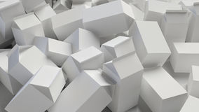 Chaotic Pile of Blank Cardboard Cartons Royalty Free Stock Photos