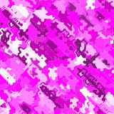 Chaotic pink jigsaw or puzzle Royalty Free Stock Photos