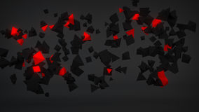 Chaotic Red particles abstract 3D render. Chaotic Red particles. Abstract 3D rendering Royalty Free Stock Photos