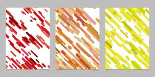 Chaotic rounded diagonal stripe pattern background page template set - vector stationery graphic design. Seamless geometrical chaotic rounded diagonal stripe Royalty Free Stock Photography