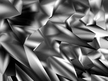 Chaotic Silver Polygonal Abstract background. 3d Render Illustration stock illustration