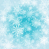 Chaotic Snowflakes Background Royalty Free Stock Photos
