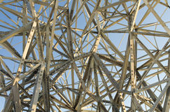 Chaotic steel structure or art? Royalty Free Stock Photography