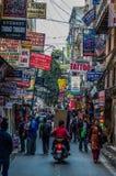Chaotic Streets of Kathmandu royalty free stock image