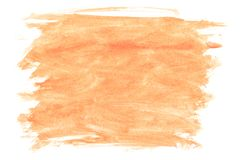 Texture of light brown paint applied by brush on white canvas royalty free stock photos