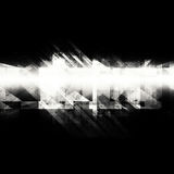 Chaotic structures pattern on black. Abstract digital background with concrete grungy chaotic structures pattern over black backdrop. Square 3d render Royalty Free Stock Photos
