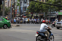 Chaotic traffic in Saigon, Vietnam Royalty Free Stock Image