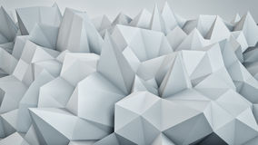 Chaotic white surface 3D rendering Royalty Free Stock Photos