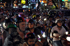 Chaotically scouter traffic in Ho Chi Minh city, Vietnam Stock Photography
