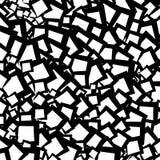 Chaotisch geometrisch textuur/patroon met willekeurige gespannen vormen royalty-vrije illustratie