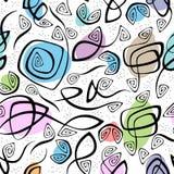Chaotisch lijnen en van kleurenvlekken naadloos patroon Vector Illustratie