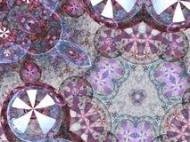 Chaotisch mandala of chakrasymbool stock illustratie