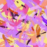 CHAOTISCH PLONSontwerp GESCHILDERD ABSTRACT NAADLOOS VECTORpatroon HIPSTER BORSTELtextuur vector illustratie