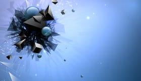 Chaotische abstracte samenstelling van geometrische vormen Royalty-vrije Illustratie