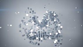Chaotische bundel van kubussen het 3D teruggeven royalty-vrije illustratie