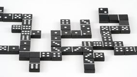 Chaotische domino Stock Foto's