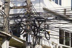 Chaotische Elektrische Bedrading royalty-vrije stock foto's