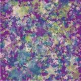 Chaotische kleurrijke sterrenachtergrond stock illustratie