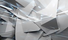 Chaotische Polygone und Lichter 3d Lizenzfreie Stockfotos