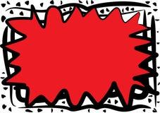 Chaotische Rode Abstracte Grens Stock Foto