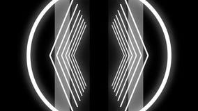 Chaotische selectie van abstracte kaders op discothema, achtergrond voor dans en muziek scène Futuristische screensaver en royalty-vrije illustratie