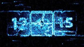 Chaotische verandering de klok De aftelprocedure op het computerscherm royalty-vrije illustratie
