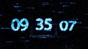 Chaotische verandering de klok De aftelprocedure op het computerscherm vector illustratie