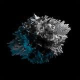 Chaotischer Gegenstand des abstrakten Fliegens mit verdrängter Oberfläche Lizenzfreie Stockfotos